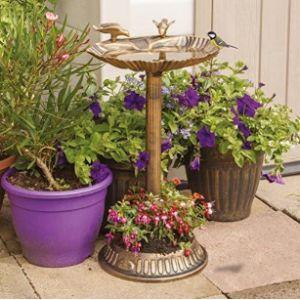 Gardenkraft Flower Bird Bath