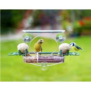 Meripac Clear Plastic Window Bird Feeder
