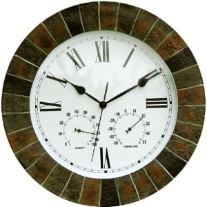 About Time Co Garden Wall Clock Thermometer