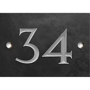 Stone House Number Plaque