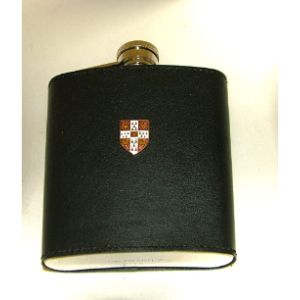University Gifts Leather Covered Hip Flask