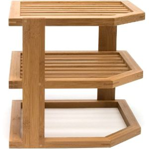 Lipper International Kitchen Cabinet Corner Shelf