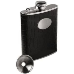 County Engraving Hip Flask