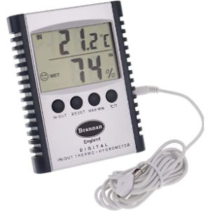 Brannan Digital Hygrometer Min Max Thermometer
