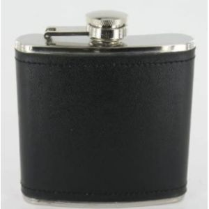 Thepresentstore Leather Covered Hip Flask