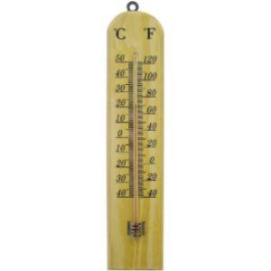 Faithfull Wooden Wall Thermometer
