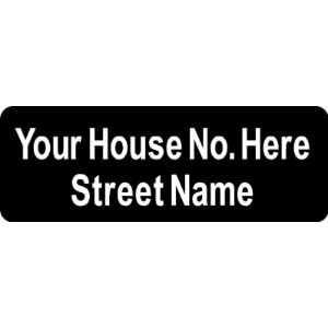 Custom Made Decal Front Door House Number