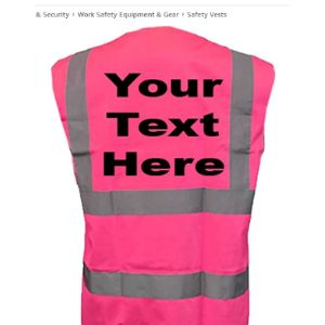Printed By Custom-Funky Pink High Visibility Vests