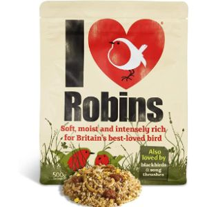 I Love Robins Blackbird Bird Feeder
