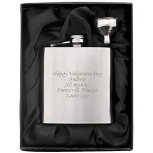 Gift Cookie Stainless Steel Hip Flask Engraved