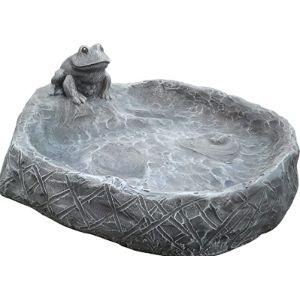 Tiefes Handicraft Frog Bird Bath