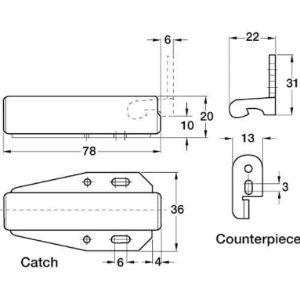 Handles & Ironmongery Door Latch Pin
