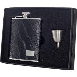 Visol Crocodile Leather Hip Flask