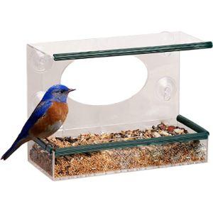 Shs Trading Squirrel Proof Window Bird Feeder