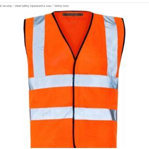 Myshoestore Orange Reflective Safety Vest