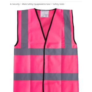 Brook Hi Vis Uk Pink High Visibility Vest