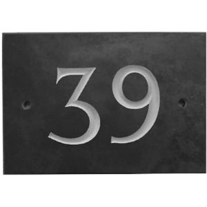 Grey Slate House Number Plaque