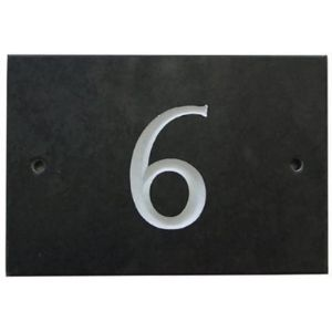 Granite House Number Plaque