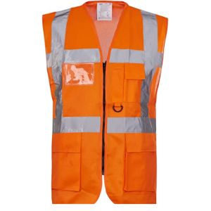 Rg Clothing High Visibility Orange Safety Vest