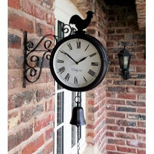 Westminster Garden Wall Clock Thermometer