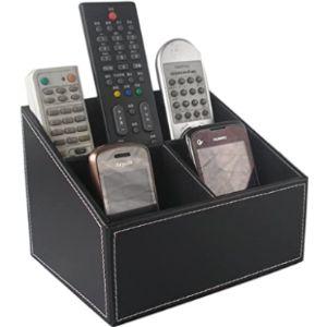 Kingfom Black Remote Control Holder