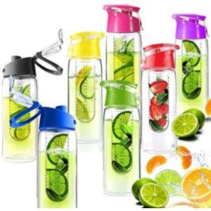 Babz Fruit Infused Water Bottle Glass