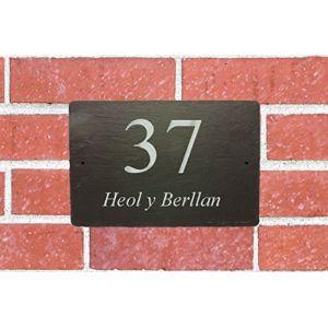 Unique House Number Plaque