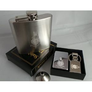 Gpo Group Stainless Steel Hip Flask Engraved