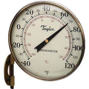 Taylor Precision Products Decorative Bronze Outdoor Thermometer