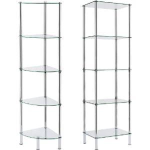 Casa Pura Glass Shelf Display Cabinet