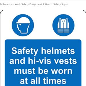 Kpcm Display Safety Sign Hi Vis Vest