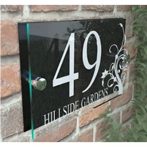 K Smart Sign Acrylic House Number Plaque