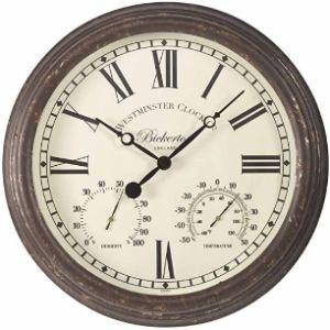 Bickerton Wall Clock Thermometer Hygrometer
