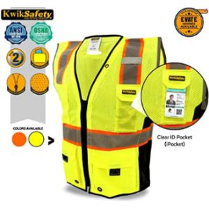 Kwiksafety Airport Safety Vest