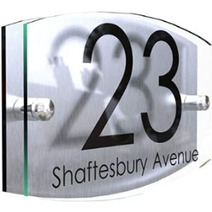 Sign Illuminated House Number Plaque