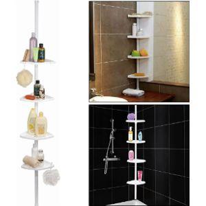 Top Home Solutions Telescopic Bathroom Corner Shelf