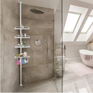 Deuba White Corner Bathroom Shelf