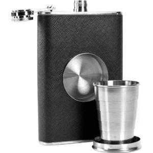 Techaffect Luxury Leather Hip Flask