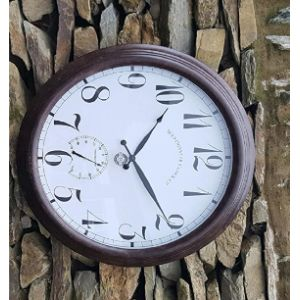 Home And Garden Products Garden Wall Clock Thermometer