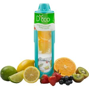 D'Eco Fruit Infused Water Bottle Glass
