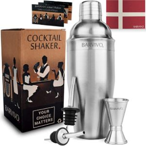 Barvivo Cocktail Shaker With Recipe Guide