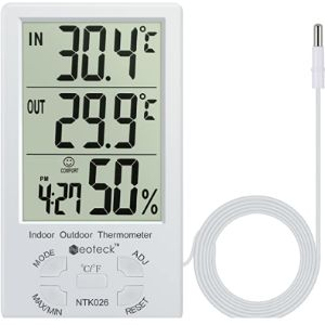 Visit The Neoteck Store Window Mount Outdoor Thermometer