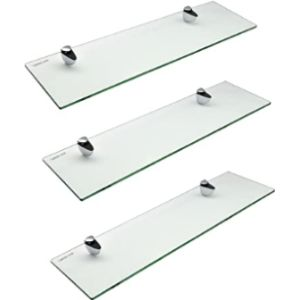 Harbour Housewares Large Glass Shelf