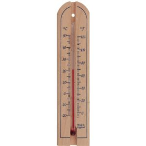 Thermometer World Wooden Wall Thermometer