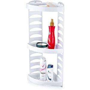 7Th White Corner Bathroom Shelf