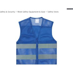 Gogo Blue Mesh Safety Vest