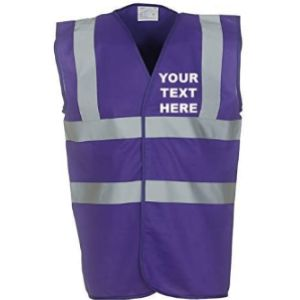 Myog Personalised Prints Purple Safety Vest