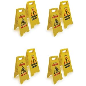 Luckduck Home Series Yellow Triangle Warning Sign