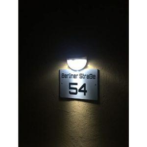 Lactonex Illuminated House Number Plaque