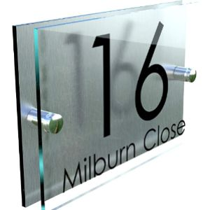 Sign Acrylic House Number Plaque